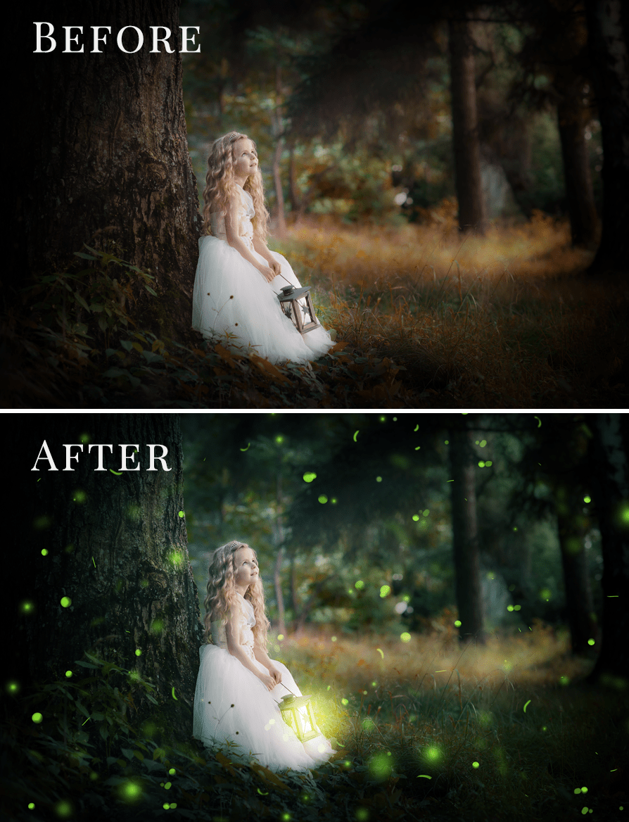 fireflies photo overlays