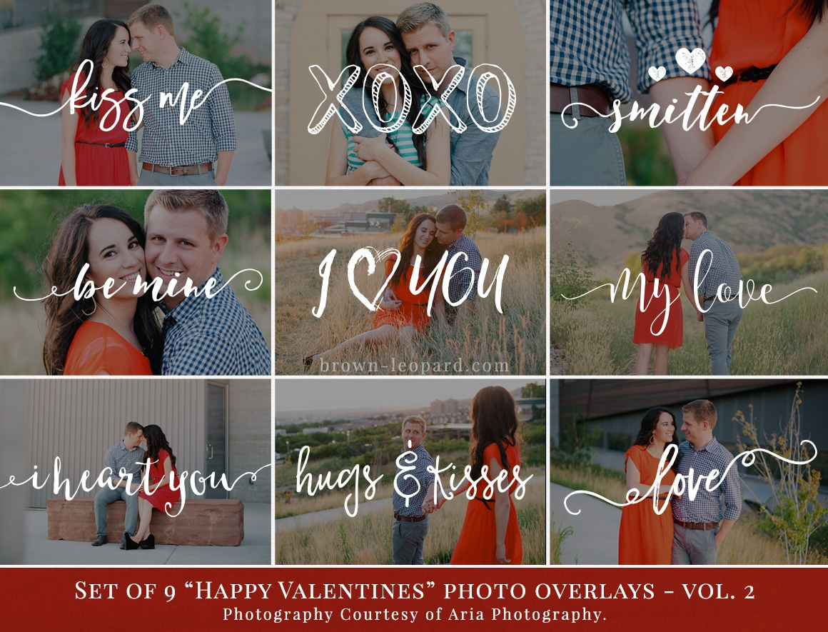 valentines photo overlays