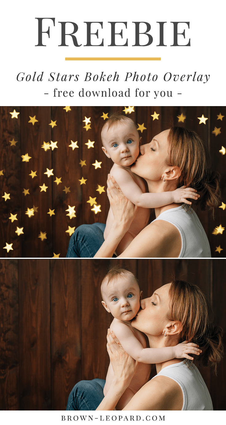 Free Christmas photo overlay from Brown Leopard. Gold stars bokeh photo overlay for creative Photographers. Just click and download this Christmas photo overlay freebie.