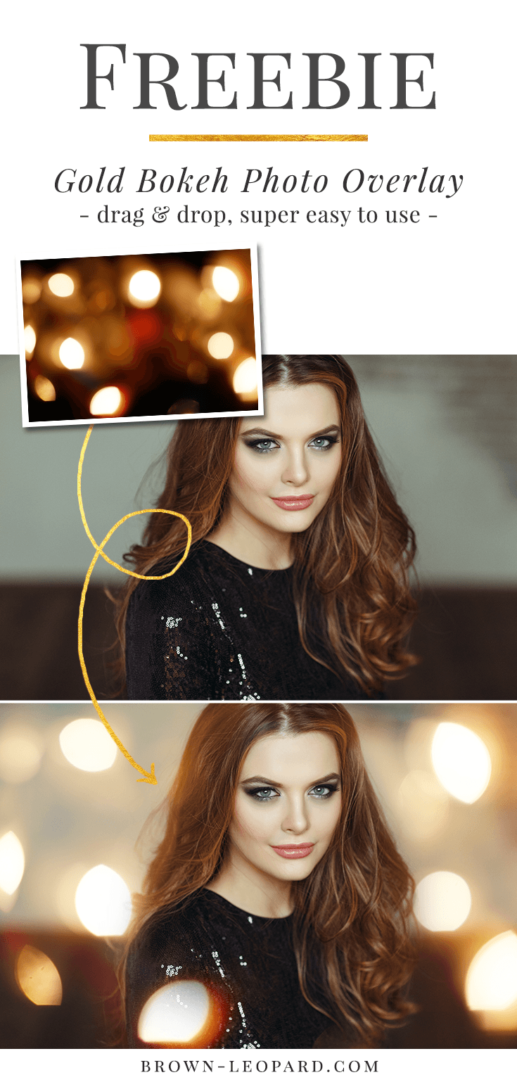 Free download from Brown Leopard - gold bokeh photo overlay. Great Christmas photo overlays for creative Photographers. Just click and download.