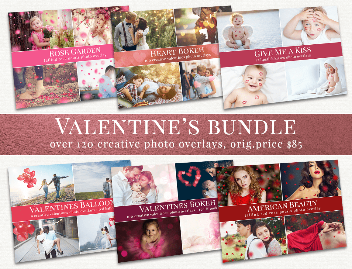 valentine's photo overlays