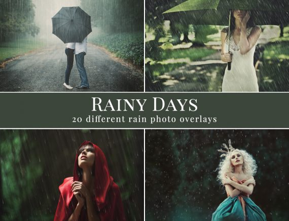 rain photo overlays