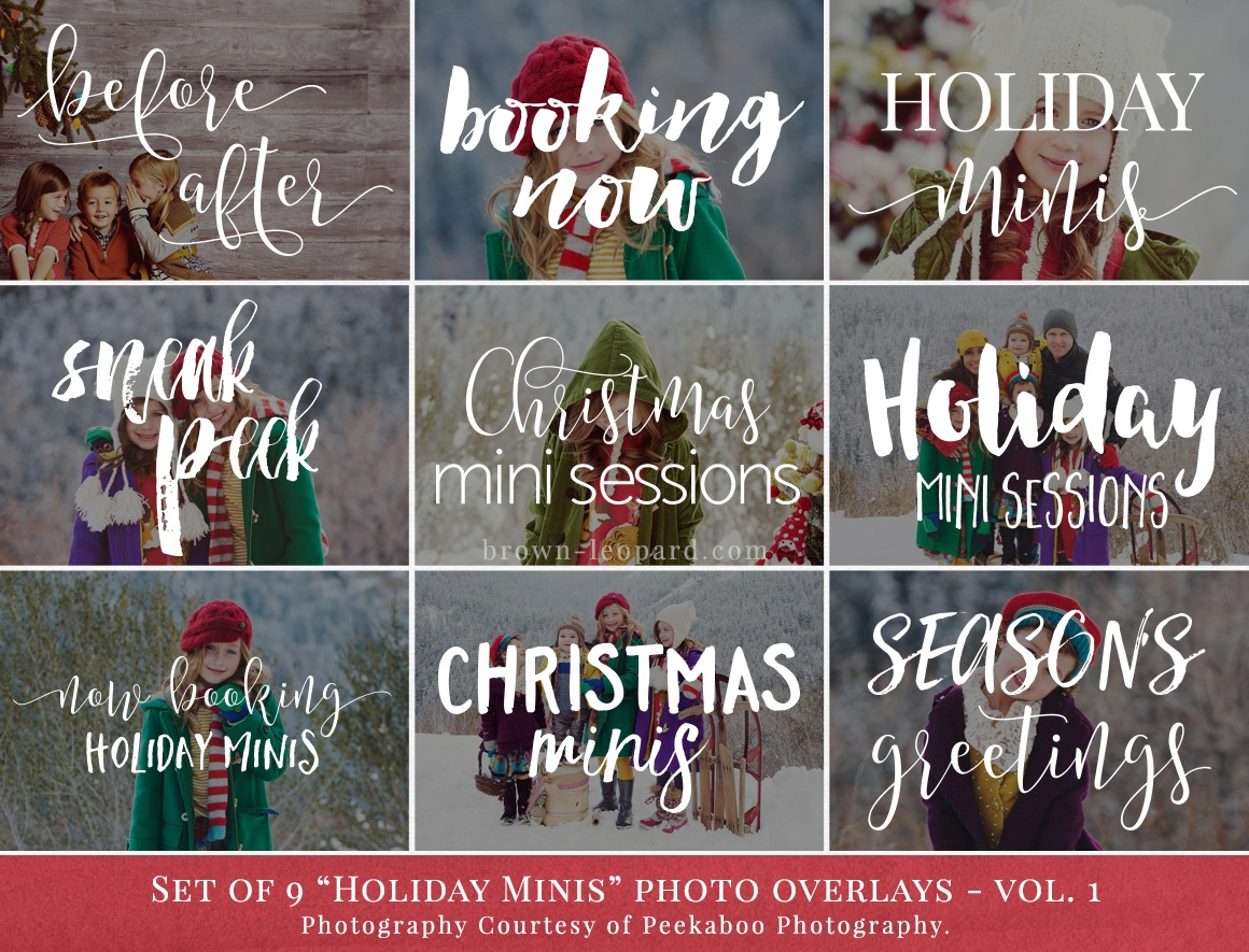 holiday minis photo overlays