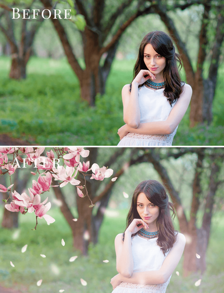 Magnolia photo overlays