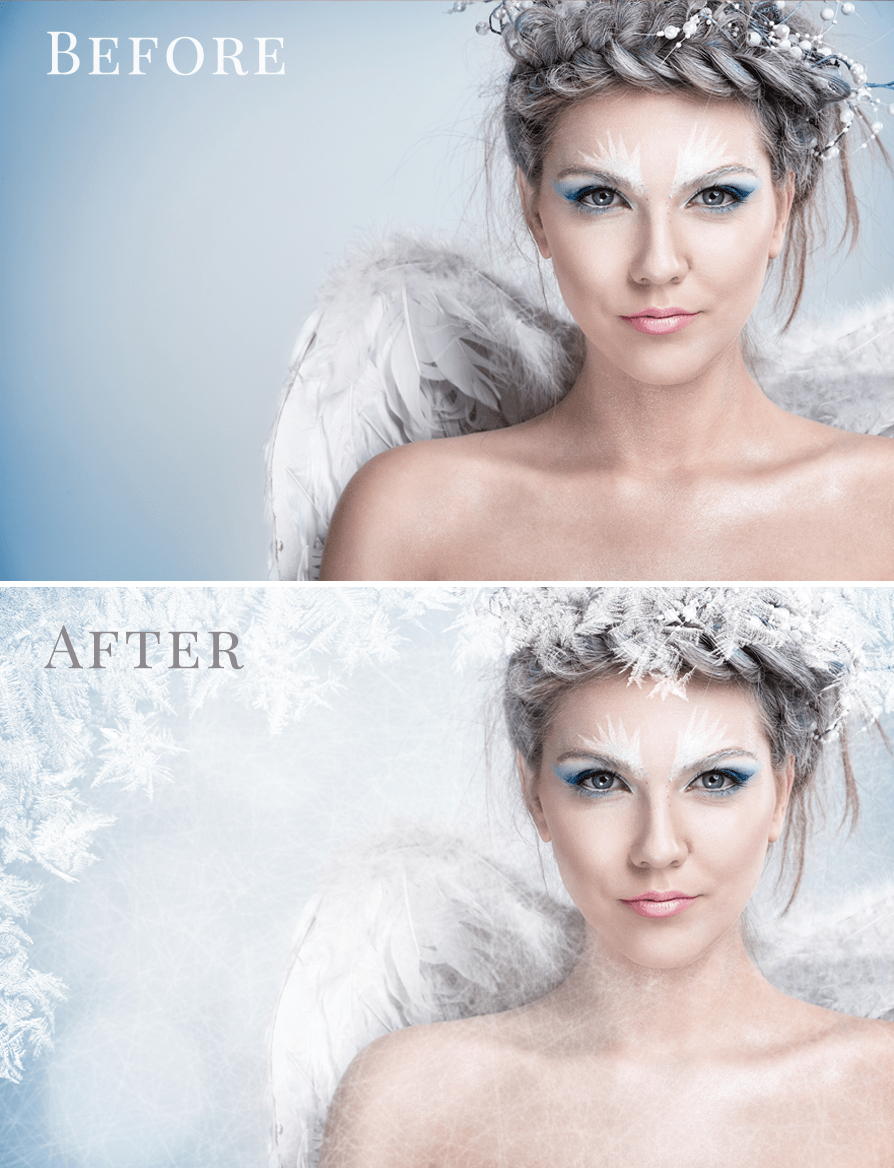 winter photo overlays