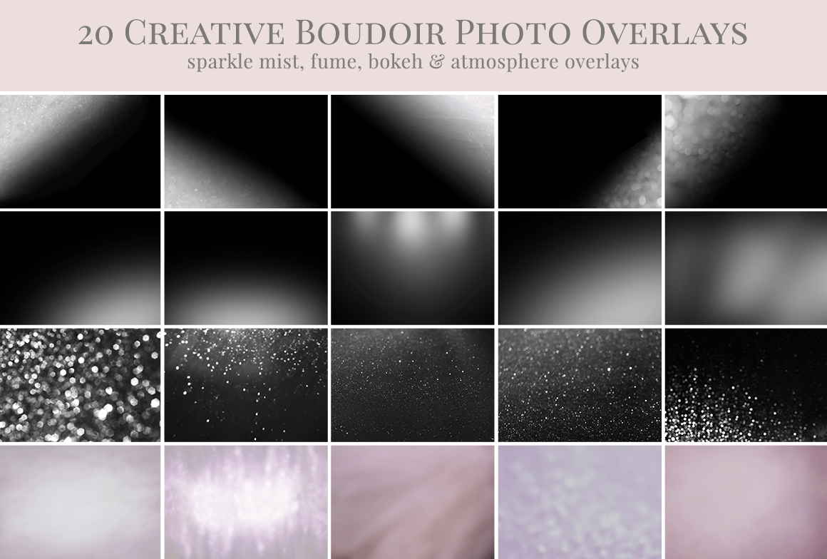boudoir photo overlays