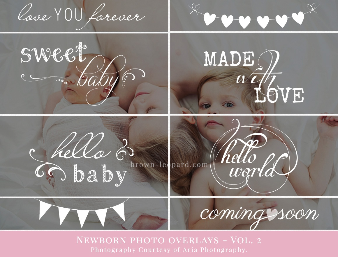 newborn photo overlays