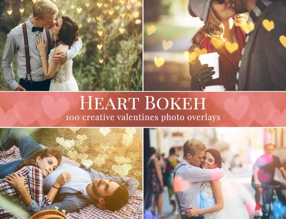 heart bokeh overlays