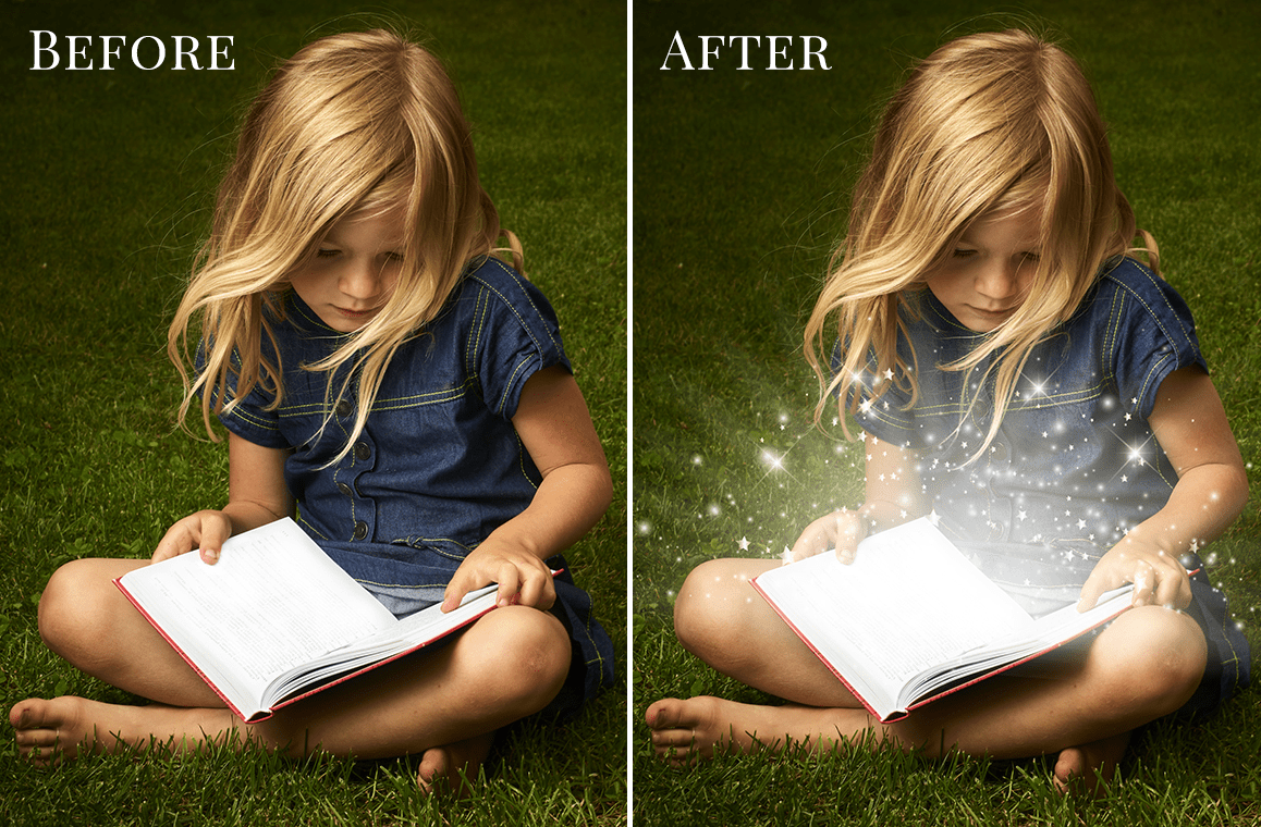 book photo overlays