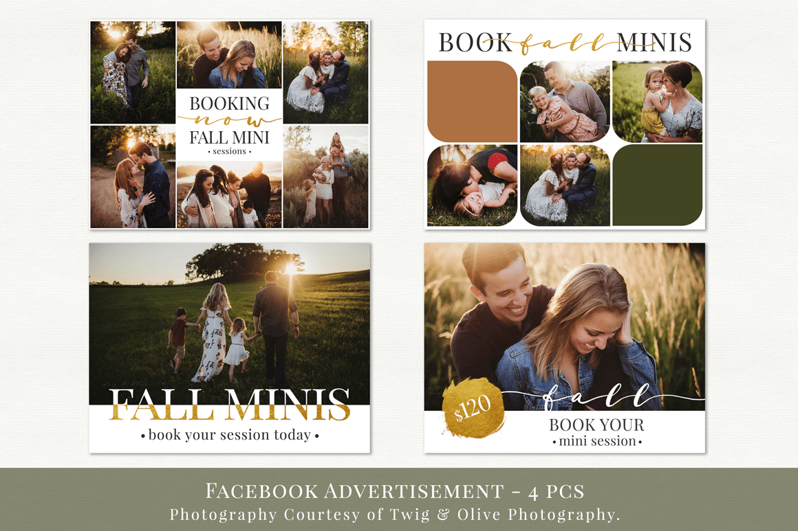 Facebook advertisement templates