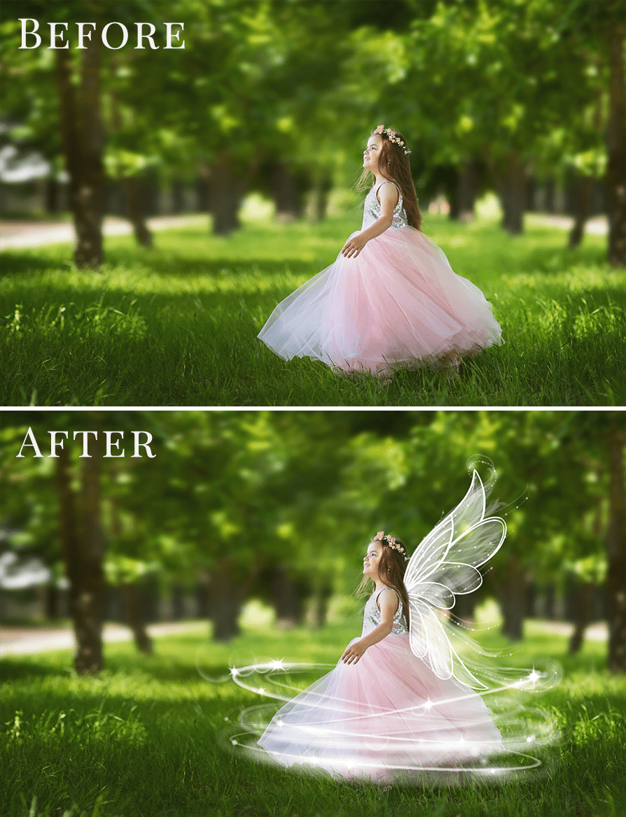Summer Fairy Tale photo overlays