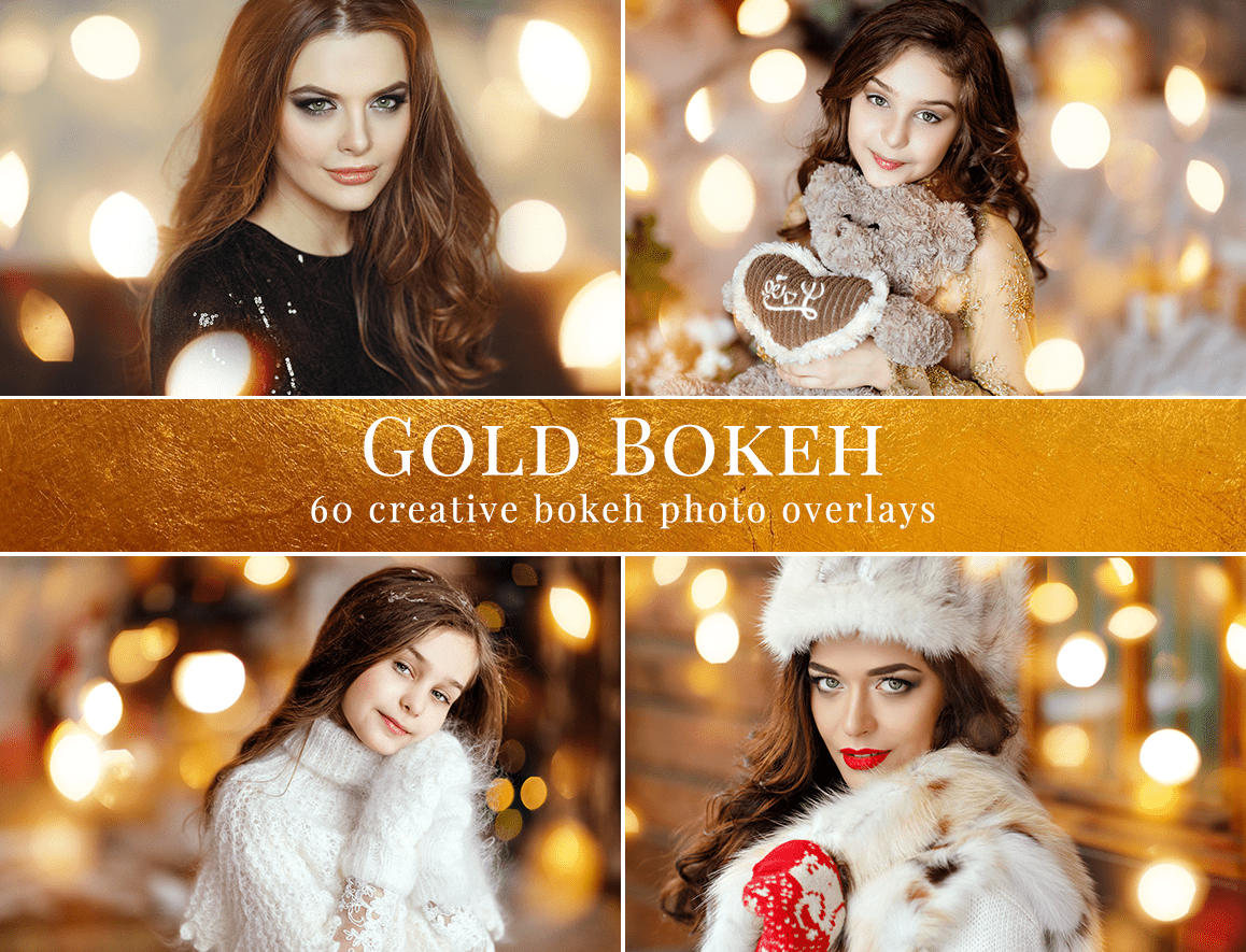 gold bokeh photo overlays