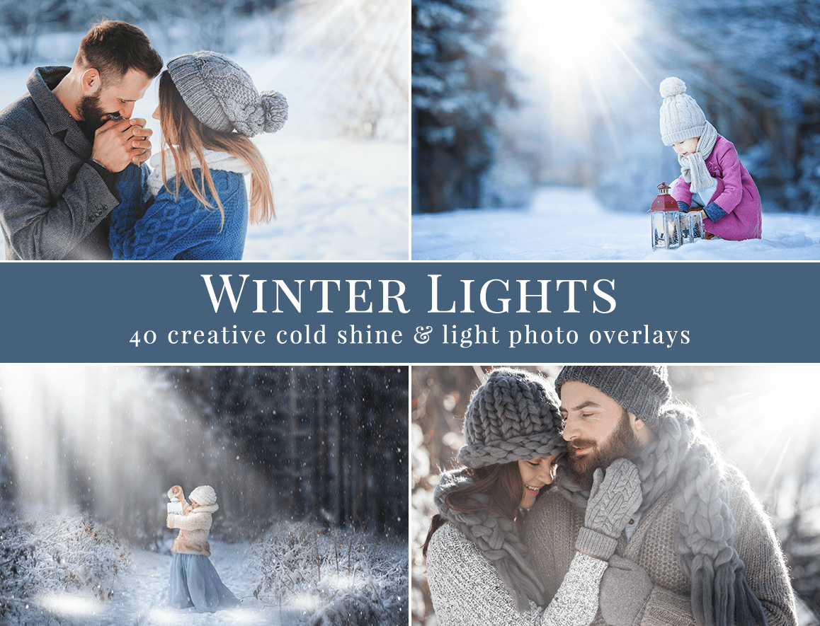Winter Lights photo overlays