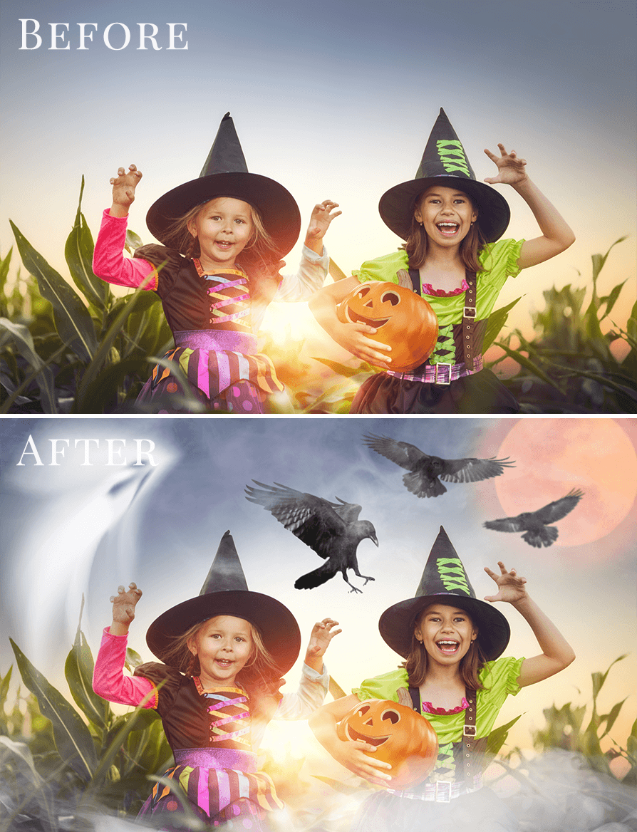 Halloween photo overlays