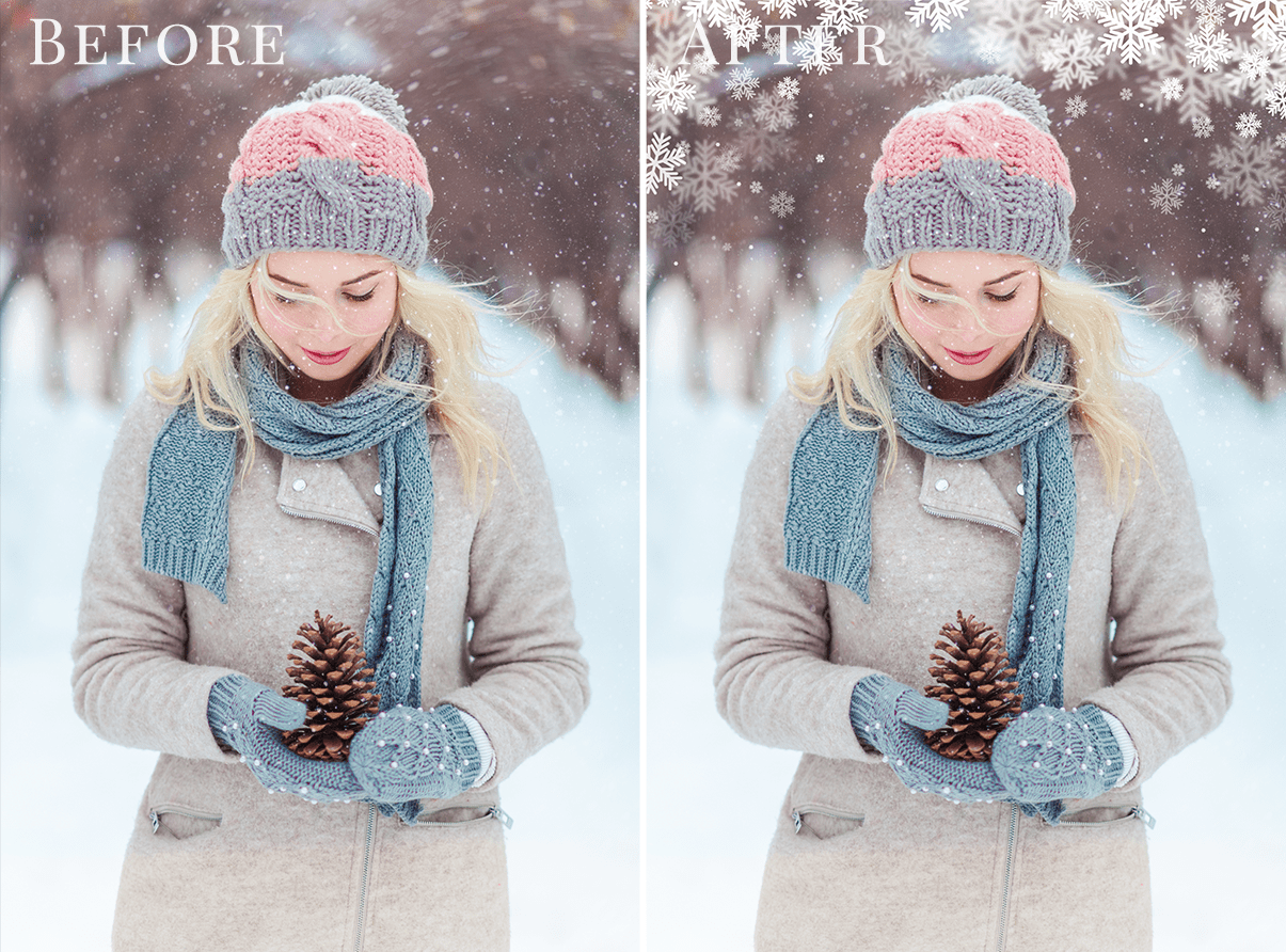 snowflake frames overlays