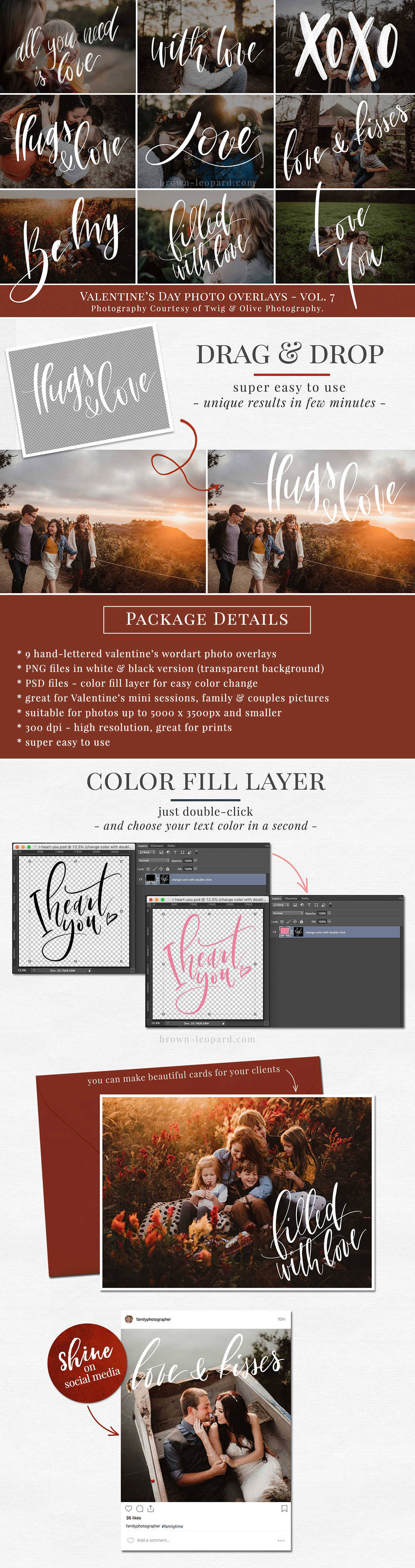 VALENTINE'S DAY PHOTO OVERLAYS VOL  7