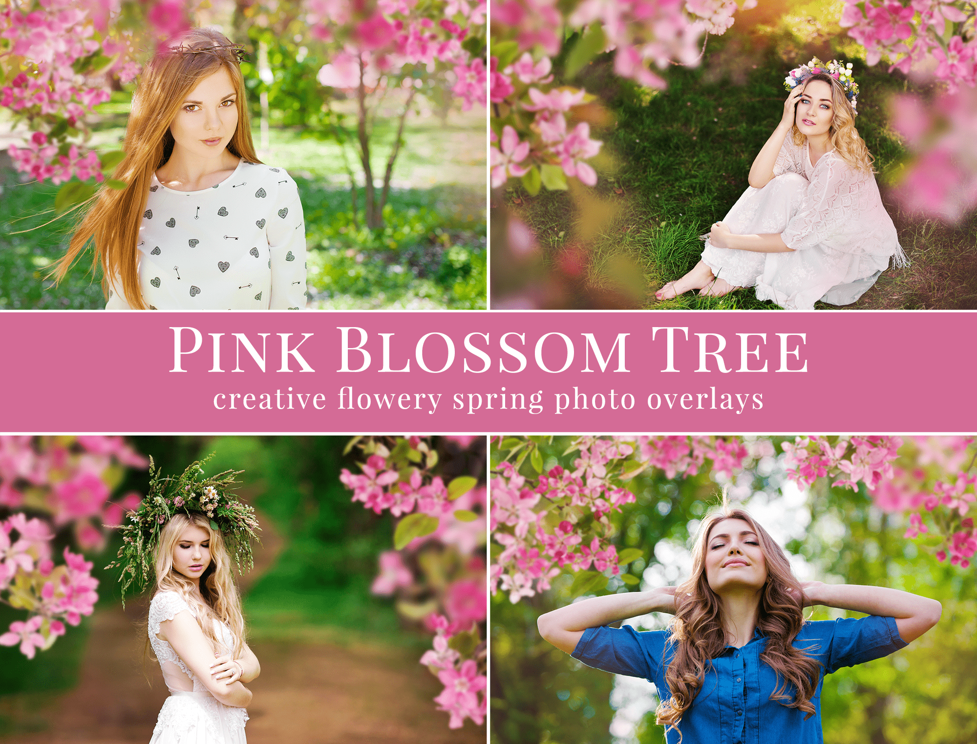 blossom tree spring photo overlays