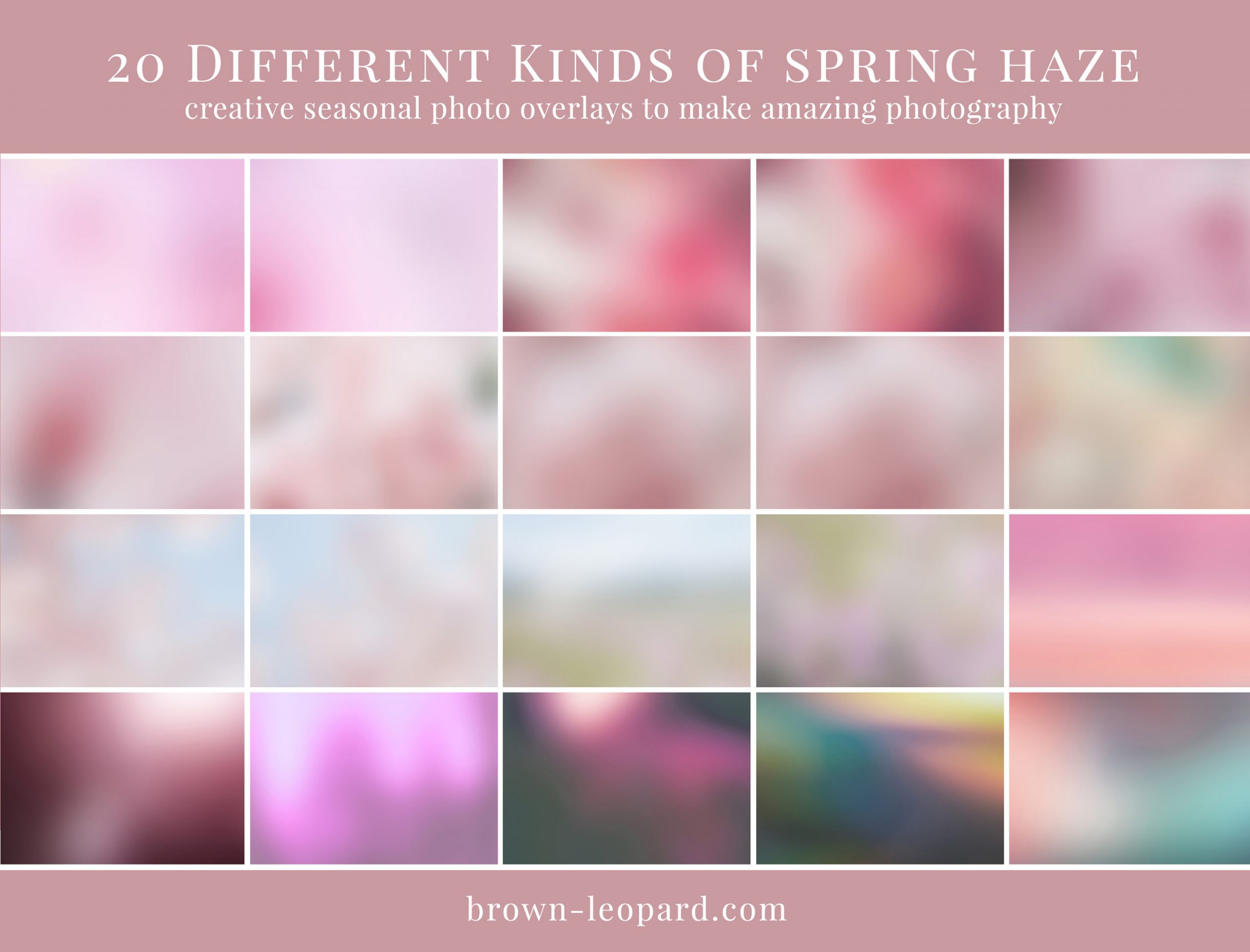 spring photo overlays for Photoshop