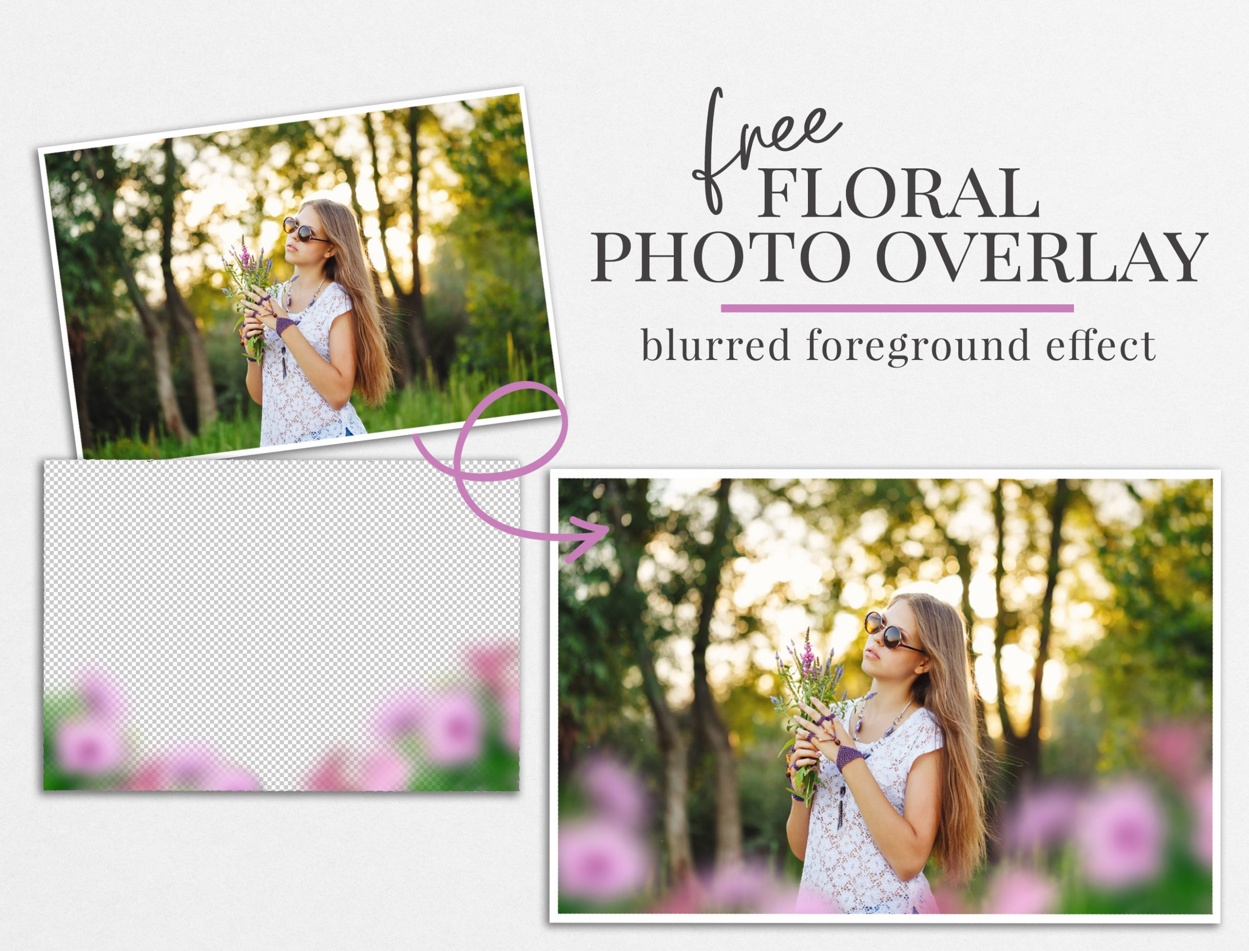 floral spring photo overlay freebie