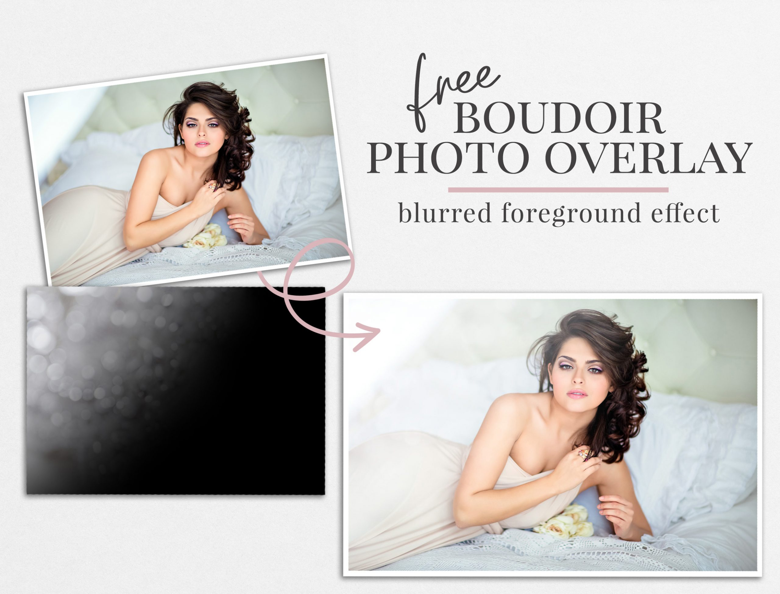 boudoir photo overlay freebie