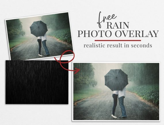 rain photo overlay freebie