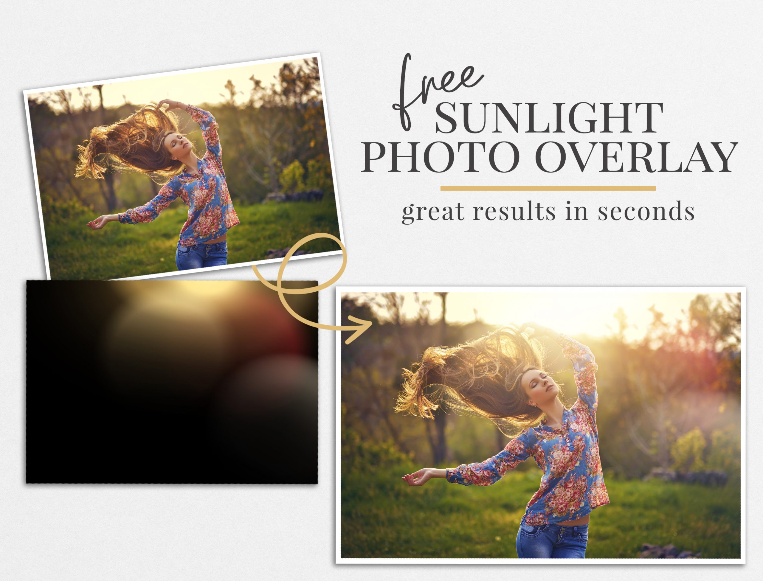 sunlight photo overlay freebie