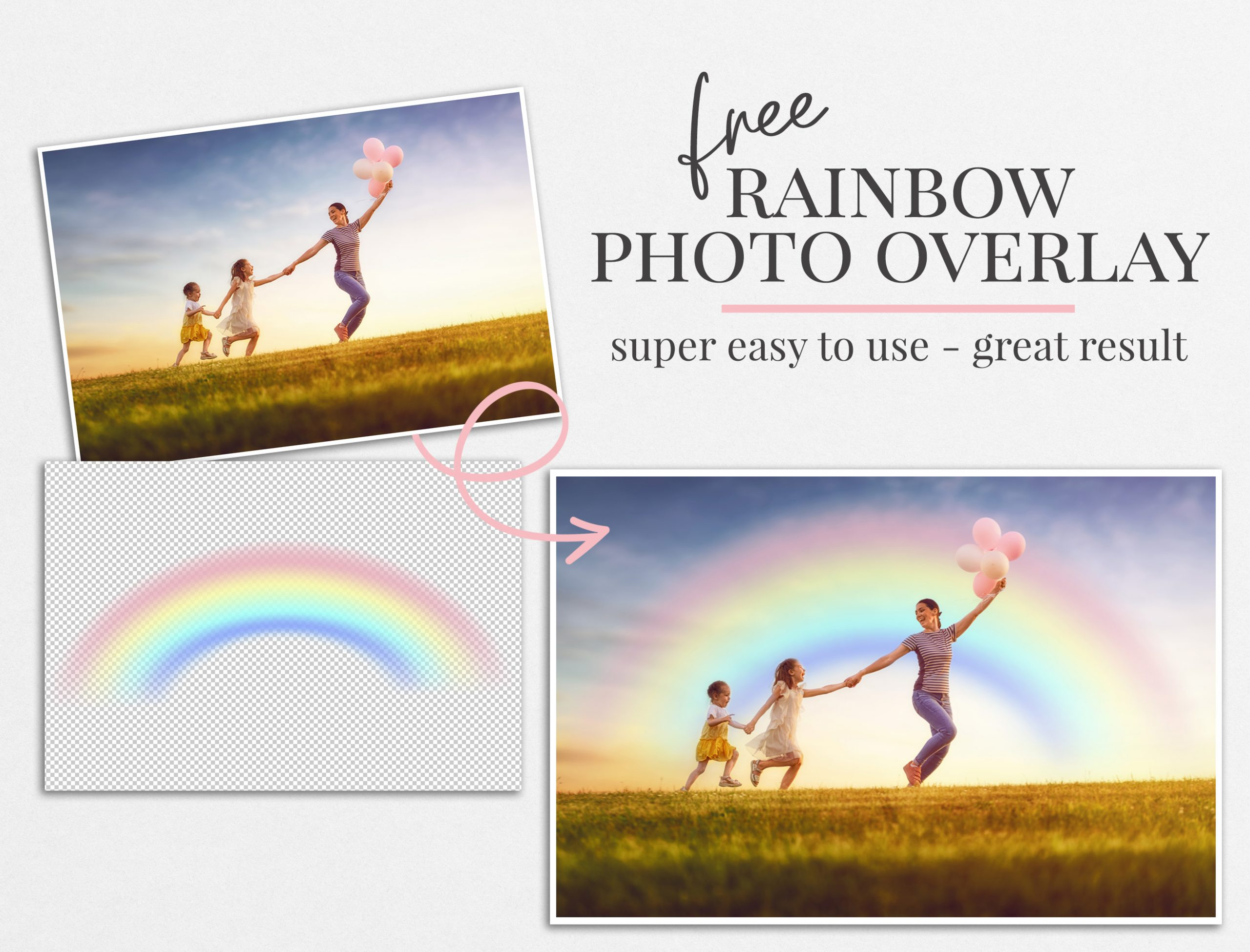rainbow photo overlay freebie