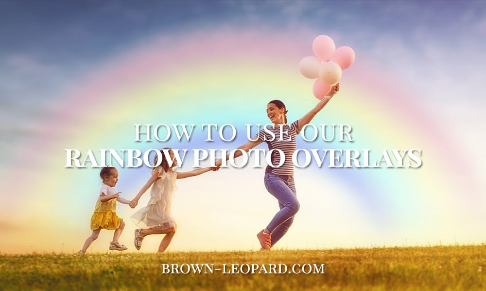 rainbow photo overlays tutorial